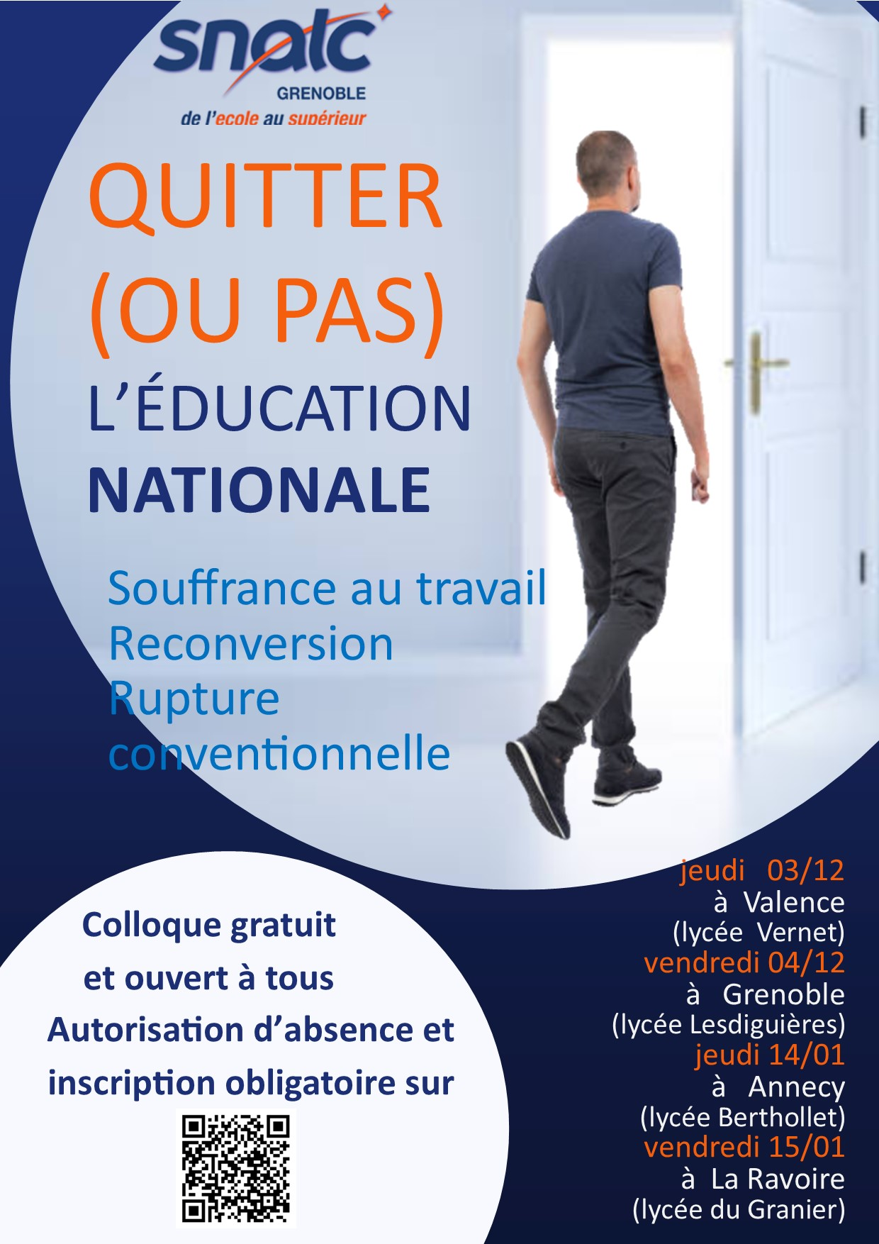 COLLOQUE QUITTER SNALC-Grenoble